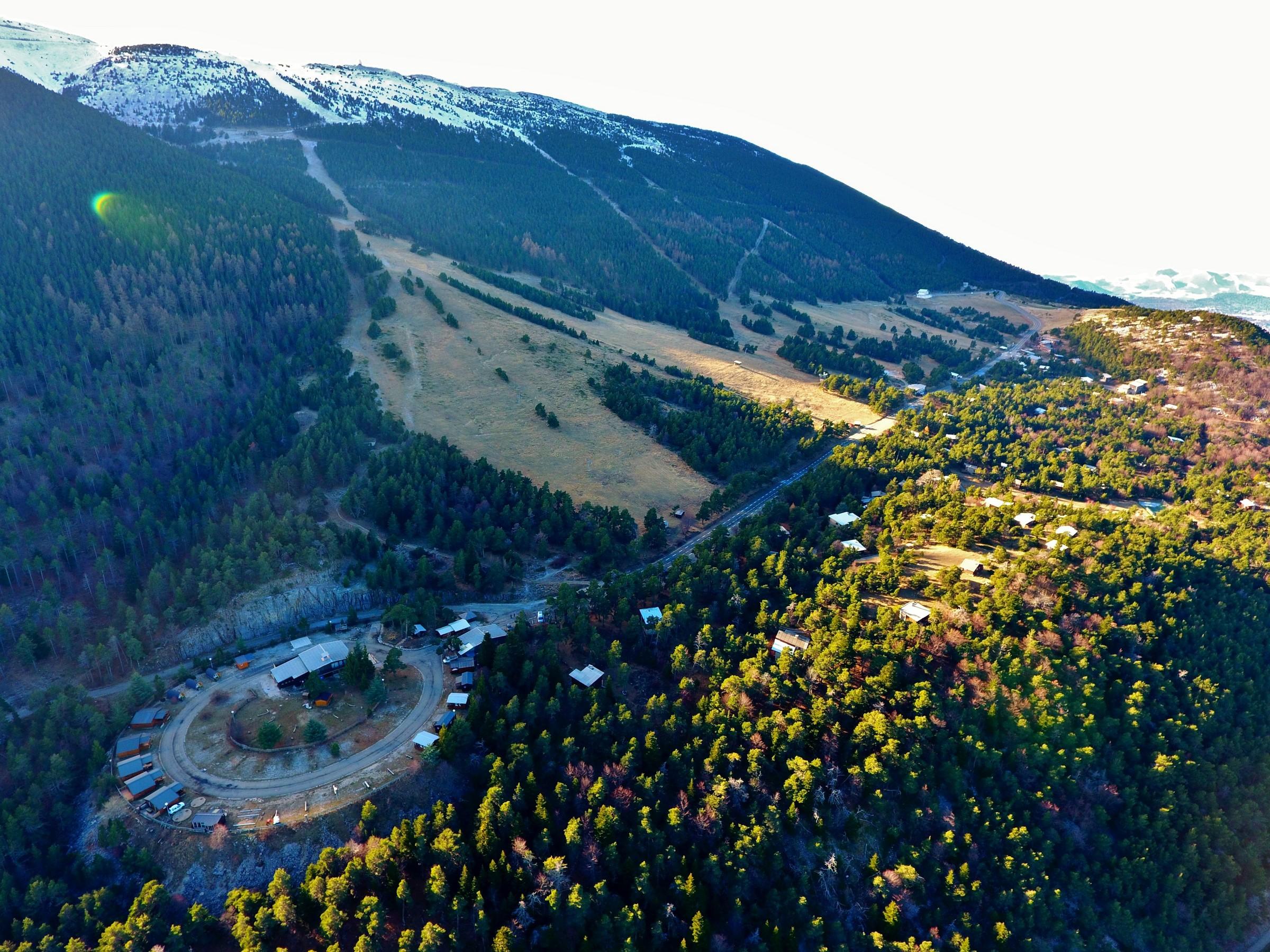 vue du camping Mont Serein sous la neige